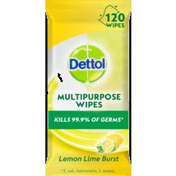 Photo of Dettol Multipurpose Antibacterial Disinfectant Surface Cleaning Wipes Lemon 120pk