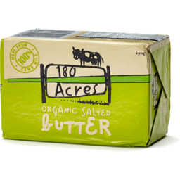 Photo of 180 Acres Organic Butter 250gm