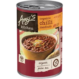 Photo of Amy's - Tinned - Chilli Beans Medium - 416g