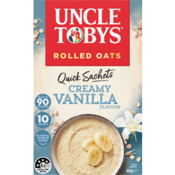 Photo of Uncle Tobys Oats Creamy Vanilla Flavour Quick Sachets 10 Pack 350g
