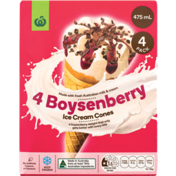 Photo of Select Ice Cream Cones Boysenberry 4 Pack