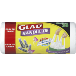 Photo of Glad Handle Tie Lavender And Orchid Bin Liners Medium 30pk