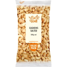 Photo of Eat Well Cashews Salted 500g