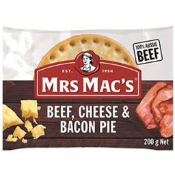 Photo of Mrs Macs Beef & Cheese Pie 200gm