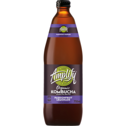 Photo of Amplify Organic Kombucha Passionfruit Lemonade 750ml Glass