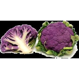 Photo of Purple Cauliflower Half