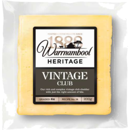Photo of Warnambool Heritage Vintage Club Cheddar 200gm