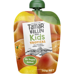 Photo of Tamar Valley Dairy Tamar Valley Kids Greek Yoghurt Tropical 110g