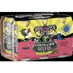 Photo of Brookvale Union Vodka Lemon Lime Bitters 330ml 6 Pack