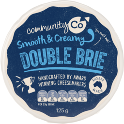 Photo of Community Co Smooth & Creamy Double Brie Soft Cheese 125g