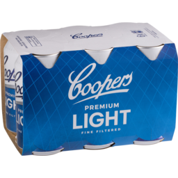 Photo of Coopers Premium Light Cans - 6 X 375ml
