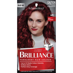 Photo of Schwarzkopf Brilliance Red Passion 43 Permanent Hair Colour One Application