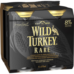 Photo of Wild Turkey Rare Breed & Cola Cans