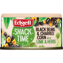 Photo of Edgell Snack Time Black Beans & Charred Corn With Lime & Herbs 70g