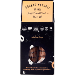 Photo of Kookas Natural Cookies - Orange Hazelnut (Gluten Free)