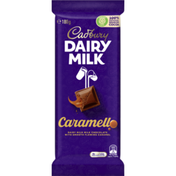 Photo of Cadbury Dairy Milk Caramello Milk Chocolate Block 180g