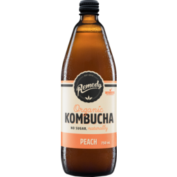 Photo of Remedy Organic Kombucha Peach Drink 750ml