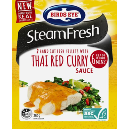 Photo of Birds Eye Steam Fresh Fish Fillets With Thai Red Curry Sauce 380g