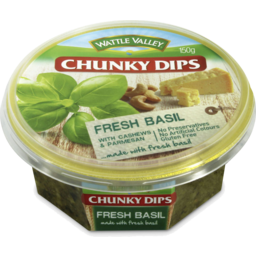 Photo of Wattle Valley Chunky Dips Basil With Cashews & Parmesan 150gm