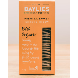 Photo of Baylies Organic Pepper Berry Lavash 135g