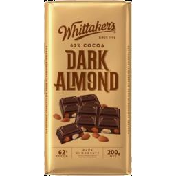 Photo of Whittaker's 62% Dark Almond Block 200gm