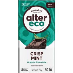 Photo of Alter Eco Dark Chocolate Block Mint 75g
