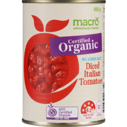 Photo of Macro Organic Tomatoes Diced No Added Salt 400g