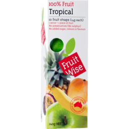 Photo of Fruit Wise 100% Fruit Tropical Fruit Straps 10 Pack 140g