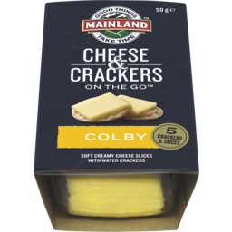 Photo of Mainland Colby Cheese With Water Crackers 50g