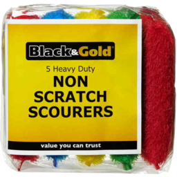 Photo of Black & Gold Scourers 5pk