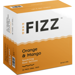 Photo of Hard Fizz Orange & Mango Seltzer Cans - 16 X 330ml