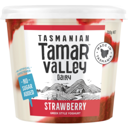Photo of Tamar Valley No Added Sugar Strawberry Greek Style Yoghurt 700g