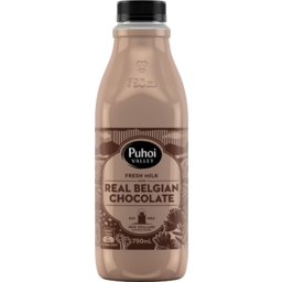 Photo of Puhoi Valley Flavoured Milk Belgian Chocolate 750ml