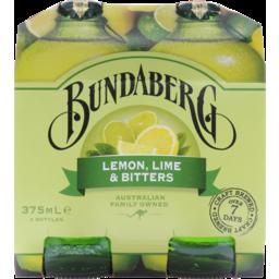Photo of Bundaberg Lemon, Lime & Bitters 4x375ml Bottles