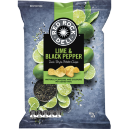 Photo of Red Rock Deli Potato Chip Lime & Pepper 165gm
