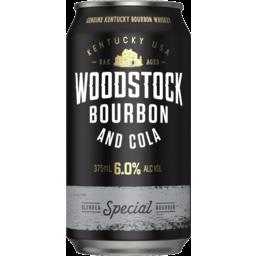 Photo of Woodstock Bourbon & Cola 6% 375ml
