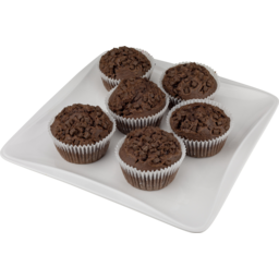 Photo of Muffins Double Chocolate 6 Pack
