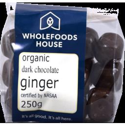 Photo of Wholefoods House Chocolate Ginger Dark 250g