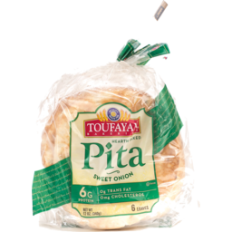 Photo of Toufayan Bakeries Pita Sweet Onion - 6 Ct