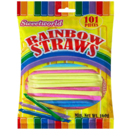 Photo of Sweetworld Rainbow Straws 160g
