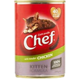 Photo of Chef Cat Food Kitten Chicken 390g