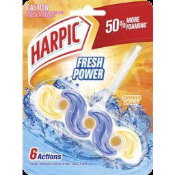 Photo of Harpic Fresh Power Toilet Block Cleaner Summer Breeze 39g
