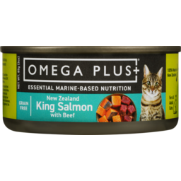 Photo of Omega Plus Wet Cat Food New Zealand King Salmon With Beef 85g