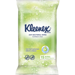 Photo of Kleenex Anti-Bacterial Wipes, 15 Wipes