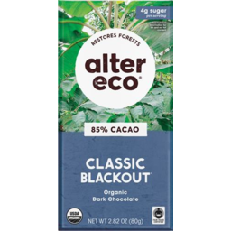 Photo of Alter Eco Chocolate Blackout 85% 80g