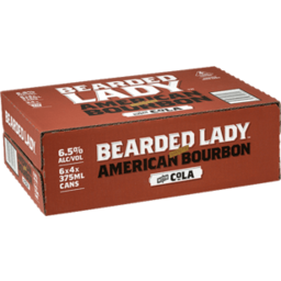 Photo of Bearded Lady Bourbon & Cola 10% 375ml 24 Pack