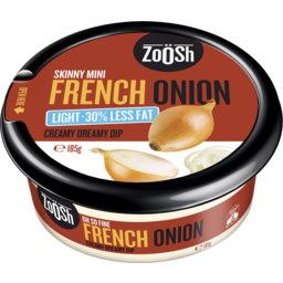 Photo of Zoosh Dip French Onion Lite 185gm