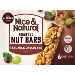 Photo of Nice&Natural Roasted Nut Bars Chocolate 6pk 192g