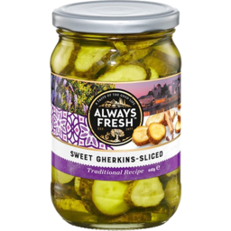Photo of Always Fresh Gherkins Sweet Sliced 440g