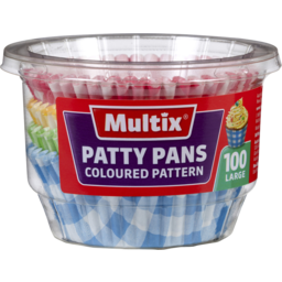 Photo of Multix Patty Pans Gingham Large 100 Pack